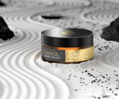 nanoil charcoal and white clay hair mask